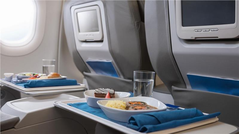 Eating tables on airplanes