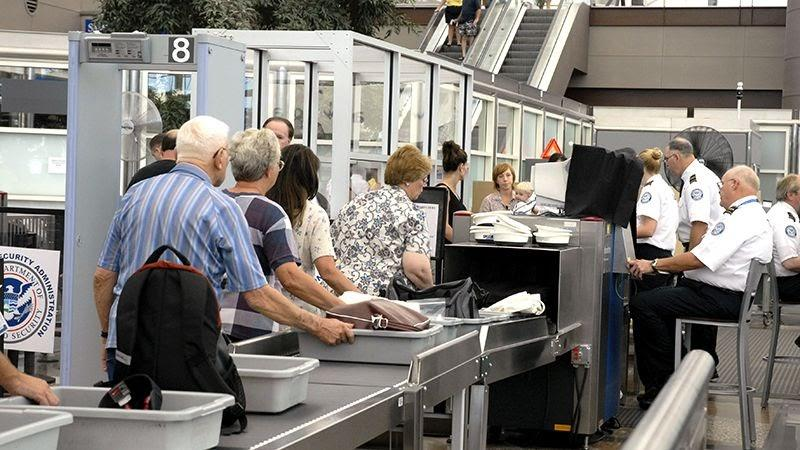 Trays at security gates