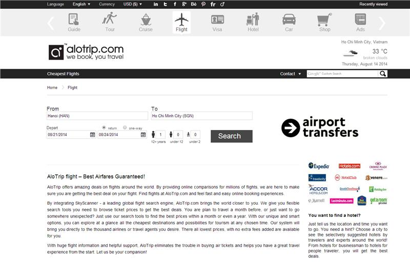 AloTrip Flight