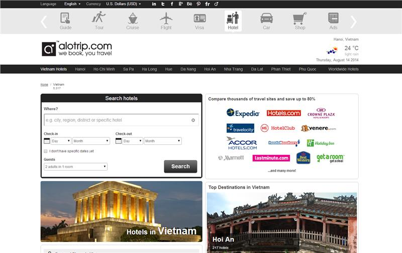 AloTrip offers new Hotel booking online