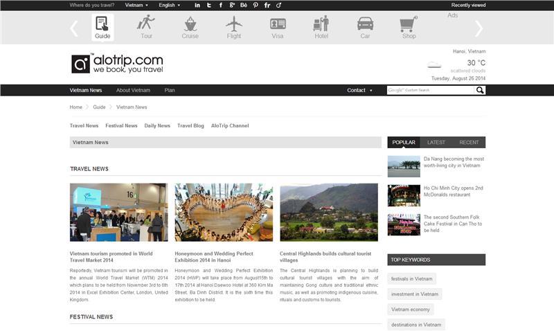 AloTrip introduces Menu Vietnam News