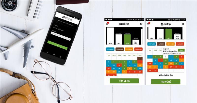 Ứng dụng AloTrip trên Play Store: Hiển thị vé rẻ cả năm & Thông báo giá vé