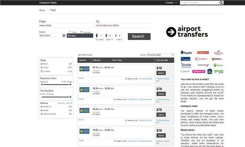 Booking at AloTrip Flight