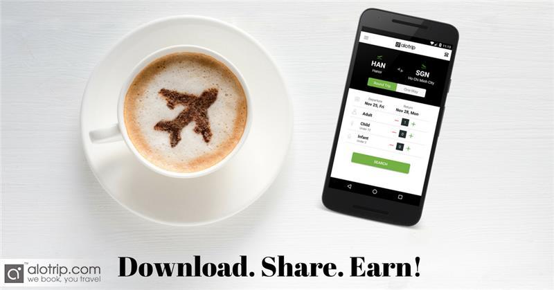Chia sẻ app, giảm giá bay tới 500K chỉ tại AloTrip!