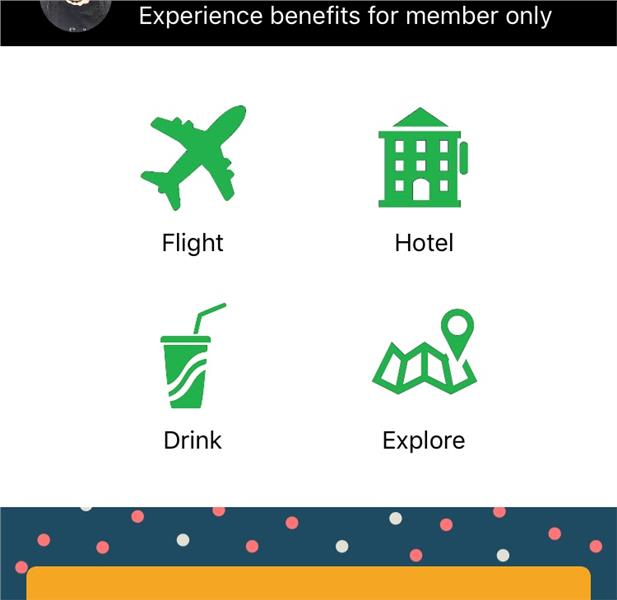 Homepage of the App