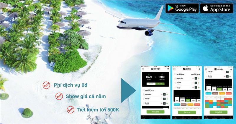Ứng dụng AloTrip trên App Store: Hiển thị vé rẻ cả năm & Thông báo giá vé