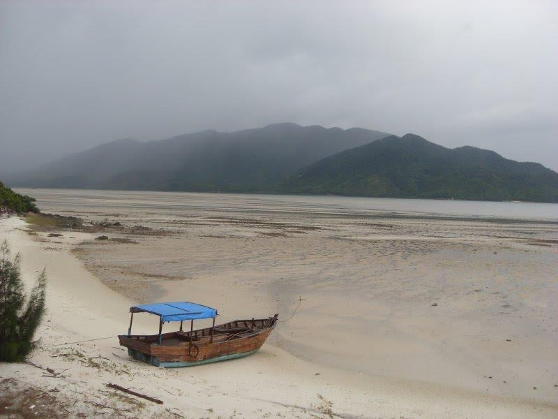 Tranquil scenery at Minh Chau Beach