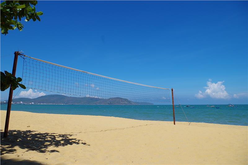 Quy Nhon beach in a sunshine afternoon
