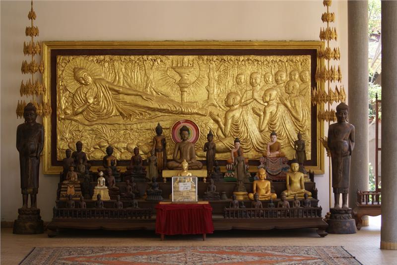 Inside of Temple at Royal Palace, Cambodia