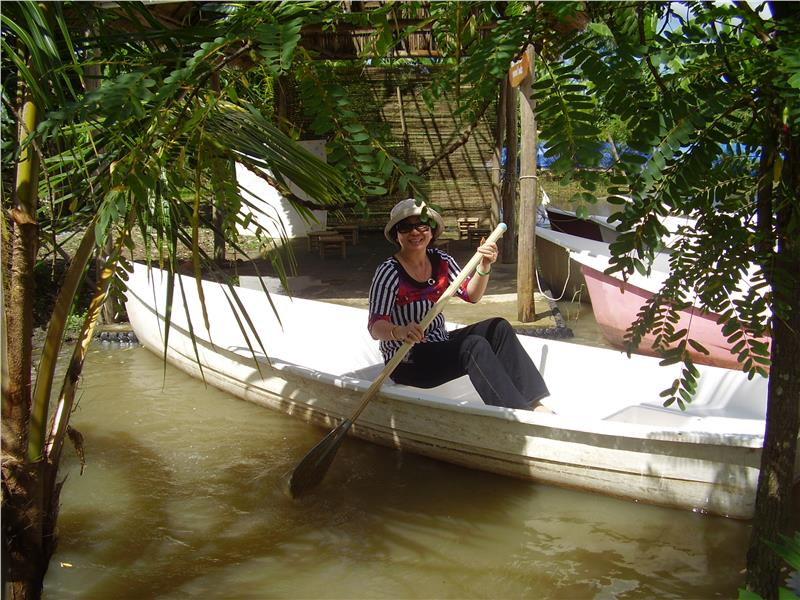 Boating in My Khanh Village - Can Tho