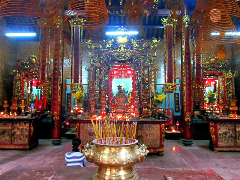 Inside Ong Pagoda -  Can Tho