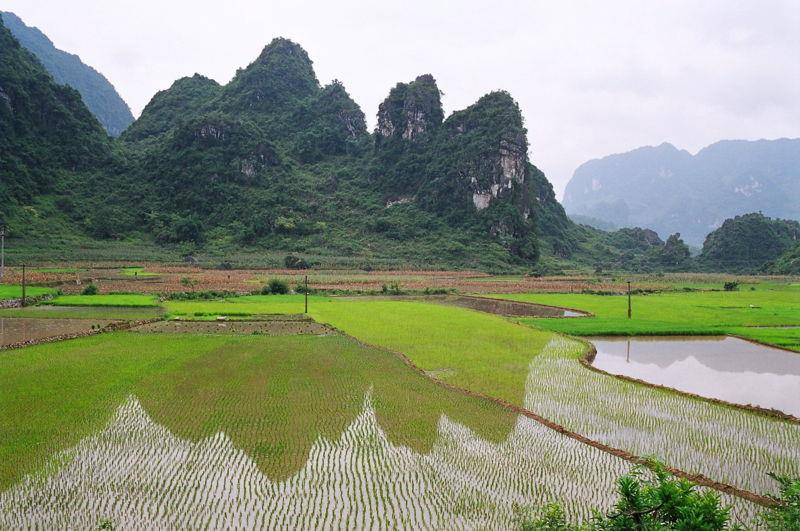 Cao Bang province in North East Vietnam
