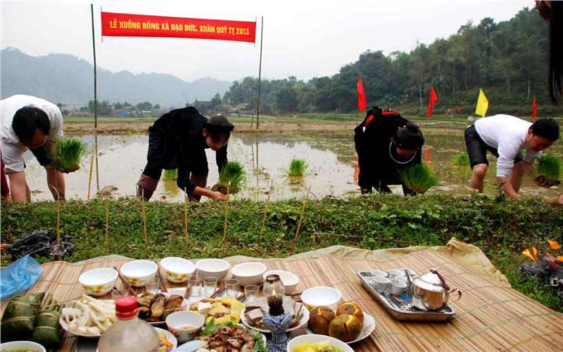 Offerings of Long Tong Festival in Cao Bang