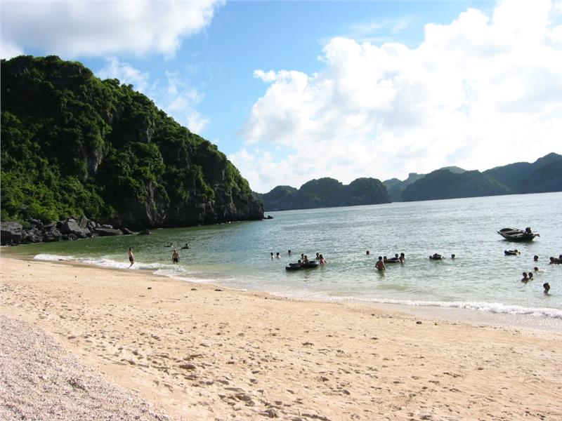 Beach in Monkey Island, Cat Ba