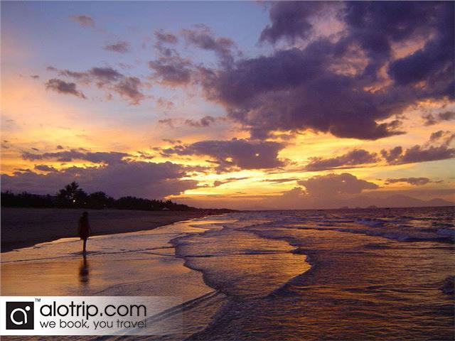 sunset in Bac My An Beach