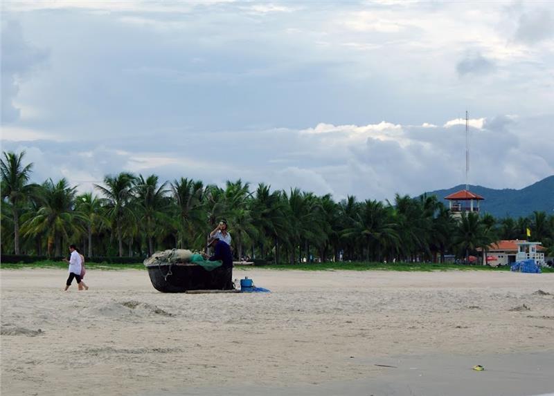Wonderful scenery at Pham Van Dong Beach