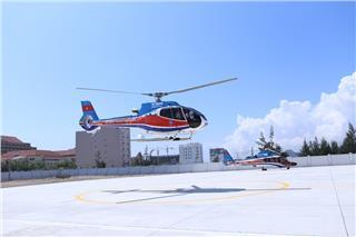 Launching helicopter tours in Da Nang