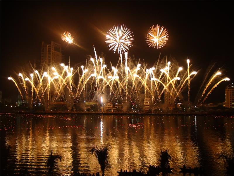 Team Russia in Da Nang International Fireworks Competition