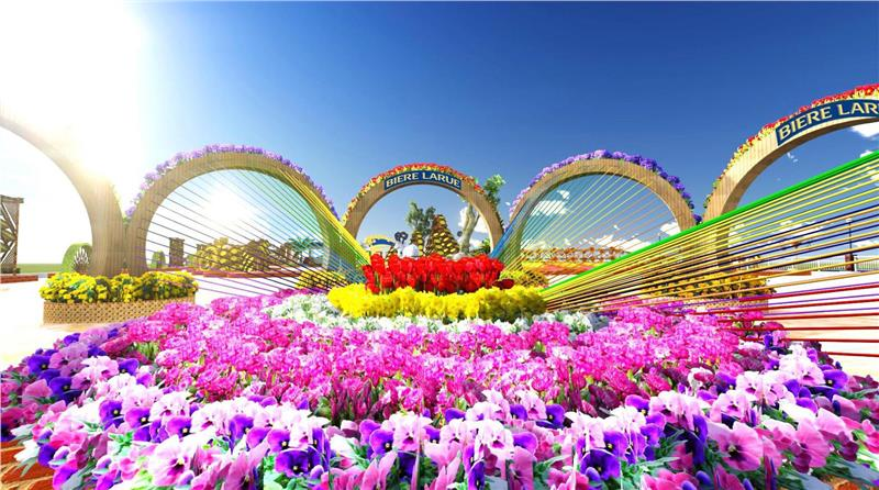 Model of Scenery 4 - Rainbow in Bloom