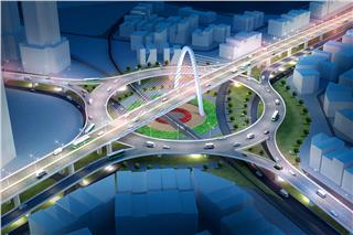 Hue T-junction overpass nearly completes
