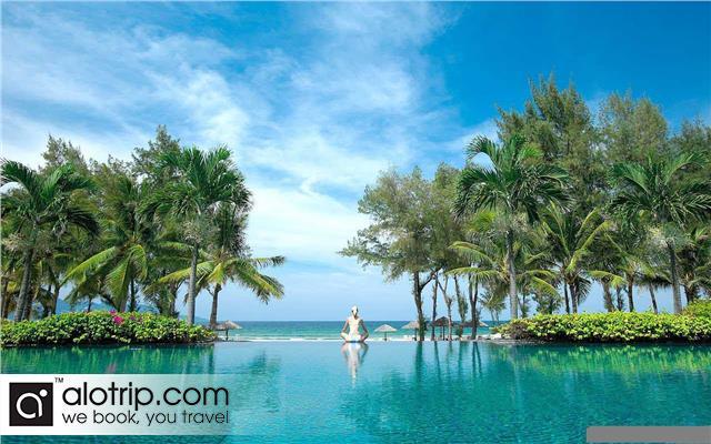 Relaxing in Swimming Pool near Beach