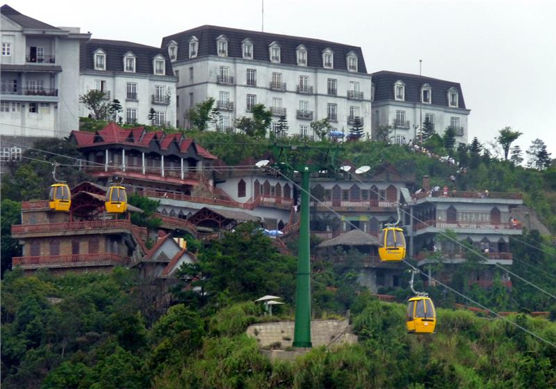 Cable car to Ba Na Hill