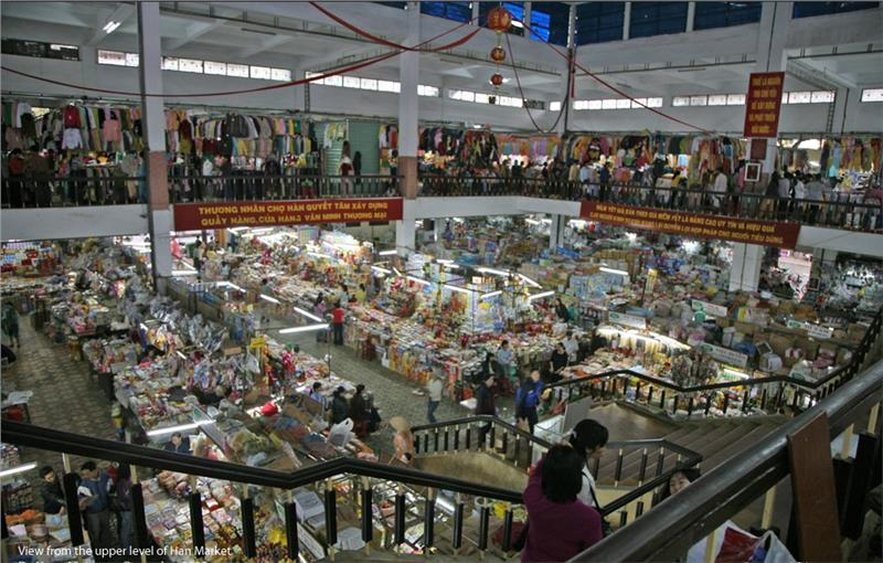 View from the upper level of Han Market