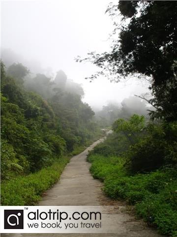 a small road to Monkey Mountain