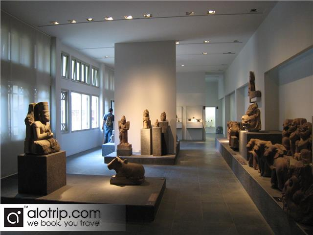 a corner of Museum of Cham Sculpture