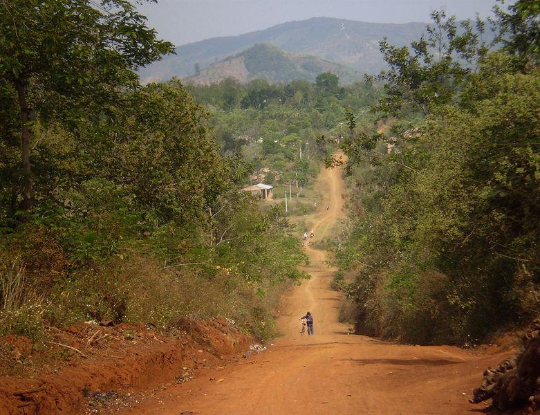 Basaltic soil road in Dak Lak province