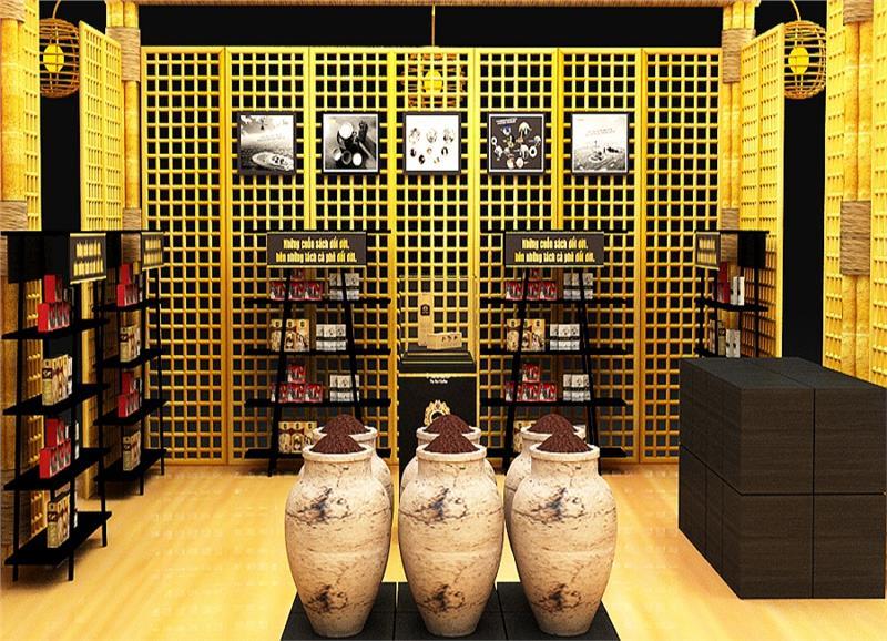 Trung Nguyen Coffee book display