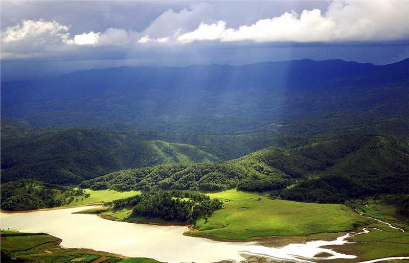Dankia Lake - Golden Stream seen from Lang Biang Mountain