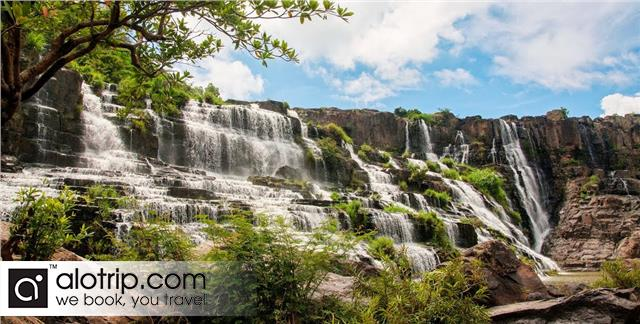 Pongour Waterfall panorama