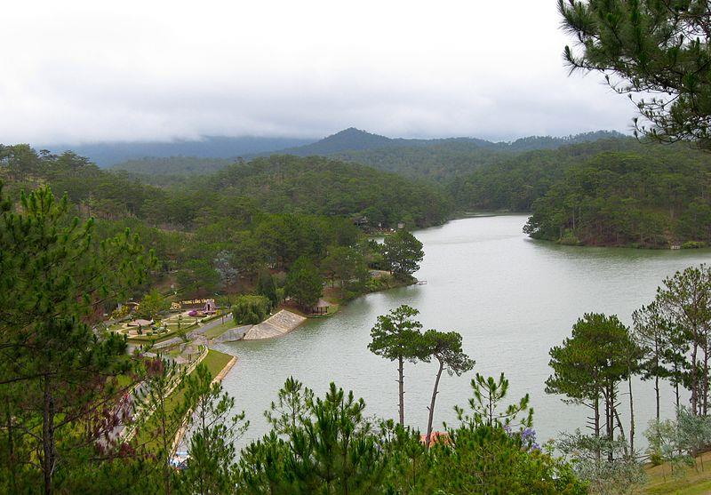 Panoramic view of Love Valley Dalat