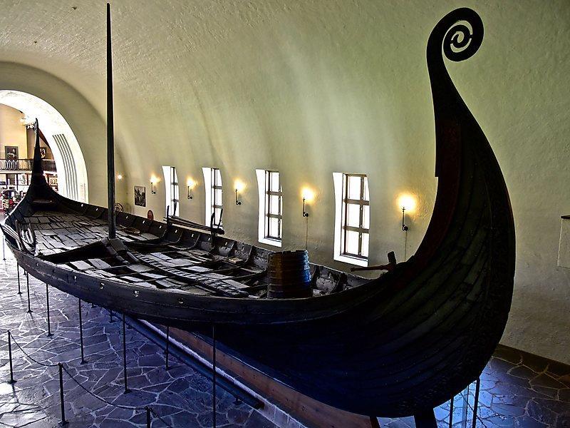 Tại bảo tàng Tàu Viking