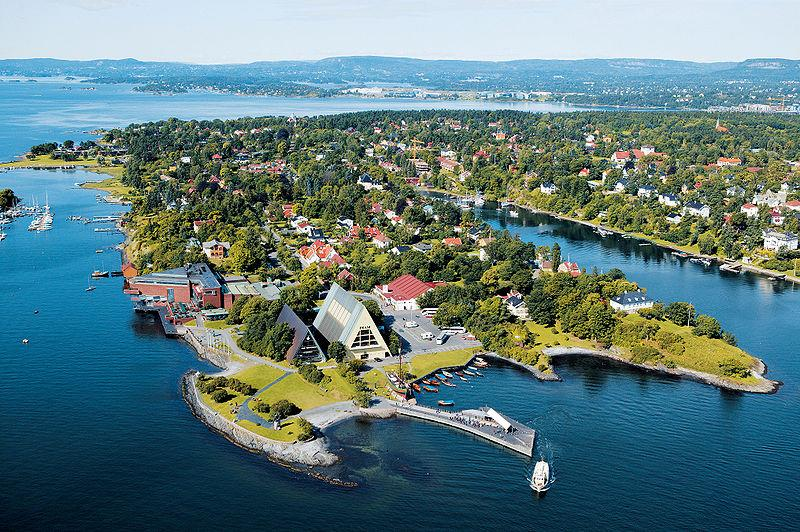 Peninsula on the western side of Oslo