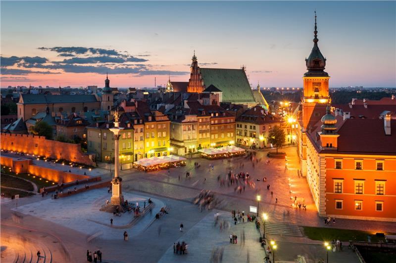 Khu phố cổ và quảng trường Old town Warsaw