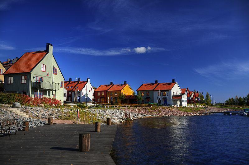 Những căn nhà nhỏ ven biển ở Nykoping, Thụy Điển