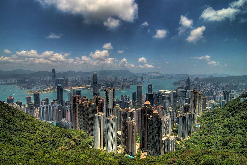 Quang cảnh Hồng Kông nhìn từ Đỉnh Victoria