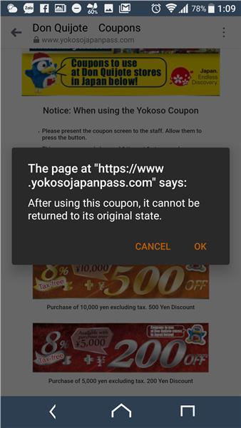 Click vào coupon muốn sử dụng