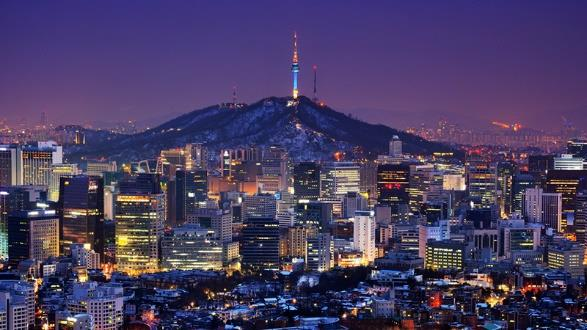 Thủ đô Seoul về đêm
