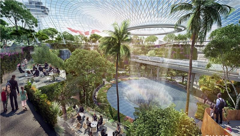 Nhà ga T4 của sân bay Changi Singapore
