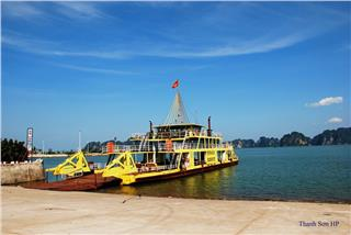 Tuan Chau ferry connects Halong Bay and Cat Ba Island