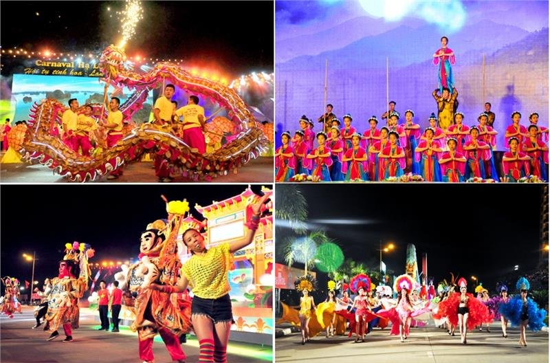 Street parades in Halong Carnival 2015