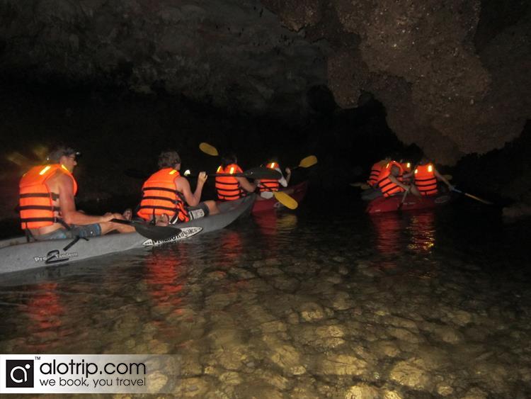 Kayaking in Dark cave