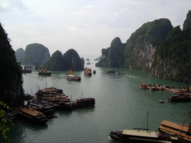 Halong Bay viewed from Sung Sot Cave