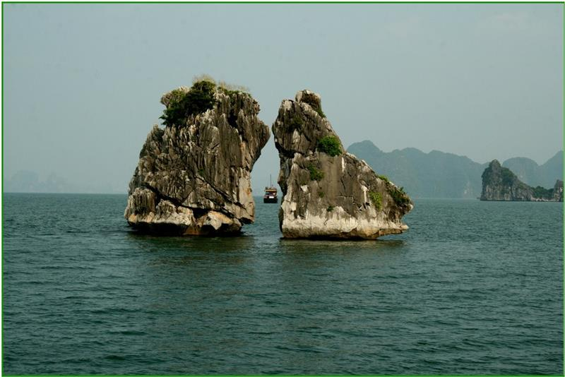 A spectacular moment of Trong Mai Islet