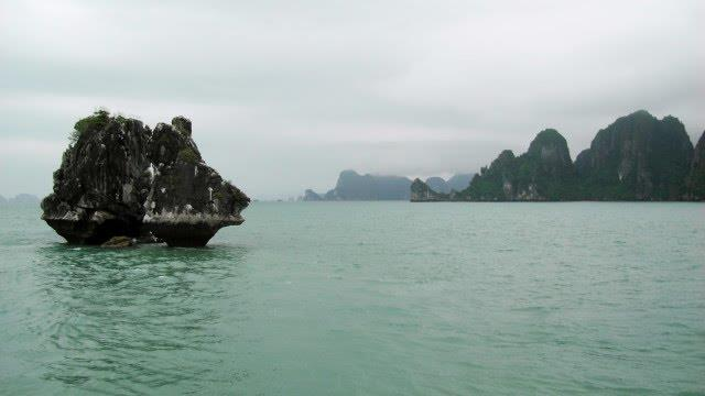 Trong Mai Islet in immense Halong Bay