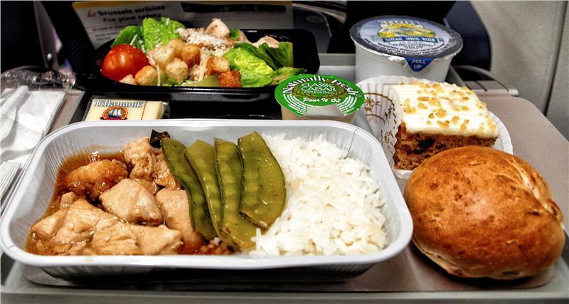 Một suất ăn trên máy bay của hãng hàng không Brussels Airlines