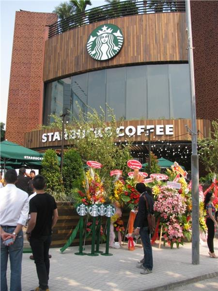 A New Starbucks Coffee in Hanoi